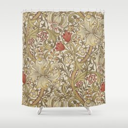 William Morris Golden Lily John Henry Dearle Shower Curtain