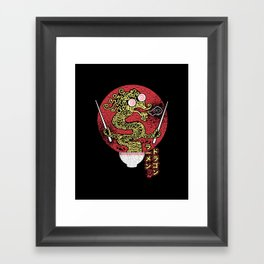 ramen dragon Framed Art Print