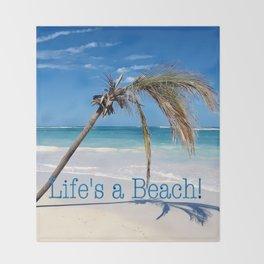 Landscape | Palm and Beach | Life's a Beach! | Nadia Bonello Throw Blanket