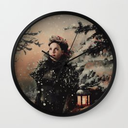 Christmas / The Queen 2 Wall Clock
