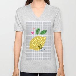 Modern Market Product Lemon Handmade Fresh Unisex V-Neck