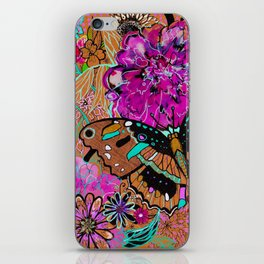 Neon Butterflies iPhone Skin