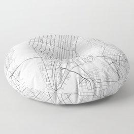 New York Map, Manhattan, USA City Map Floor Pillow
