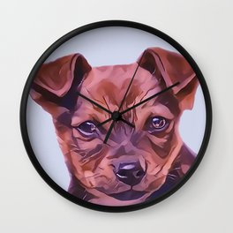 The Airedale Terrier Puppy Wall Clock