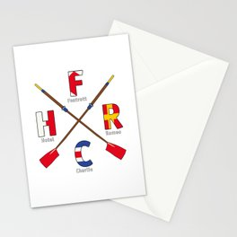 FrankHellRowingClub - Navy Alphabet Stationery Cards