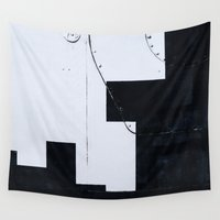 soviet Wall Tapestries featuring Abstract art of the space exploration era by digital2real