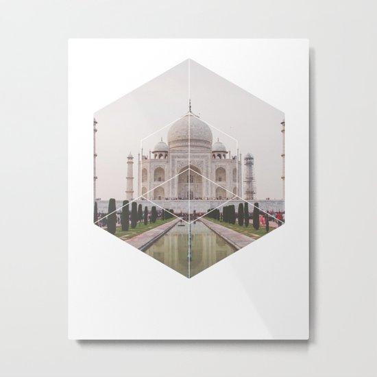 Taj Mahal - Geometric Photography Metal Print