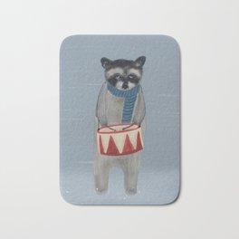 little drummer raccoon Bath Mat