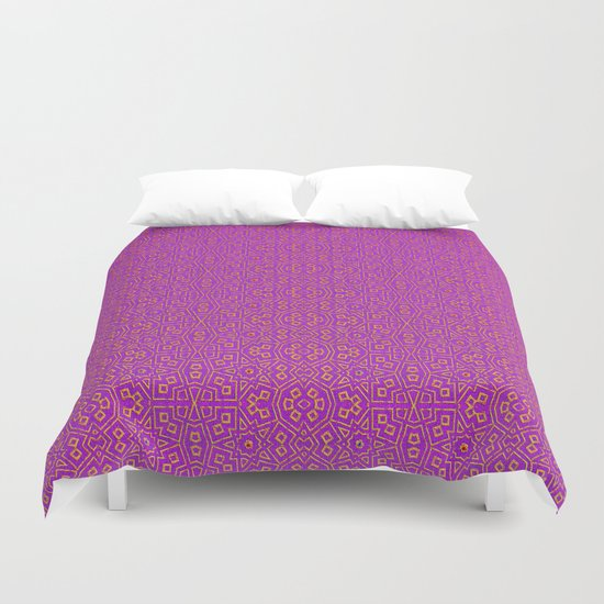 Purple Tribal Pattern Duvet Cover