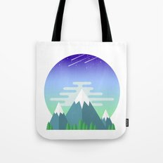 Space Mountains Tote Bag