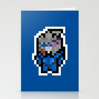 garrus Stationery Cards featuring 8Bit Icons - Garrus Vakarian by PixelBlock's Pixelshop