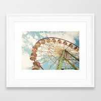 ferris wheel Framed Art Prints featuring ferris wheel by Sylvia Cook Photography