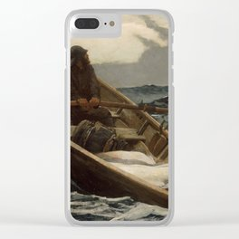 The Fog Warning / Halibut Fishing by Winslow Homer Clear iPhone Case