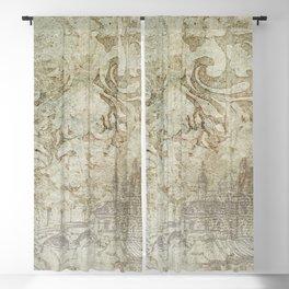 Vintage Provincial Wallpaper Blackout Curtain