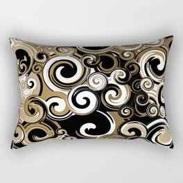 Coffee Swirls Rectangular Pillow