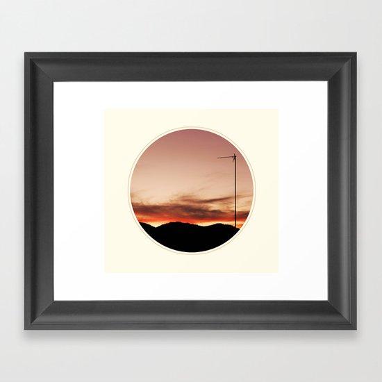 Spoiled sunset Framed Art Print
