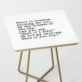 What if you fly? Vintage typewritten Side Table
