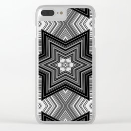 Black and white abstract pattern. Graphics. Clear iPhone Case