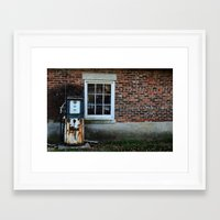 pocket fuel Framed Art Prints featuring Fuel by 100 Watt Photography