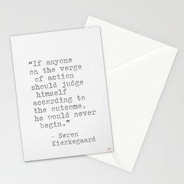 Søren Kierkegaard Stationery Cards