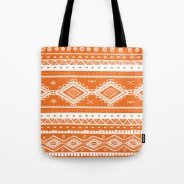 Tribal Aztec Lace Pattern (orange) Tote Bag