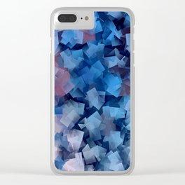 Patriotic Geometric Stacks Clear iPhone Case