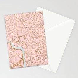 Cambridge map, Massachusetts Stationery Cards