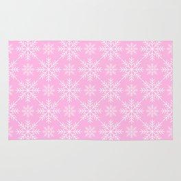 Snowflakes on Pink Rug