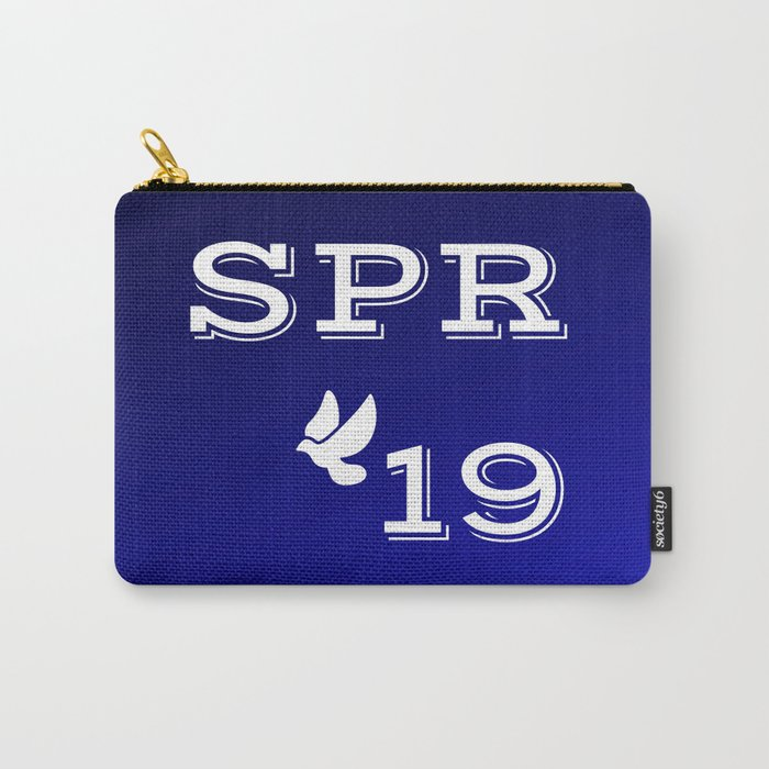 Spring 19 Blue and White Limited Edition Carry-All Pouch