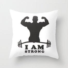 Mr. Strong Throw Pillow