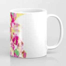 pineapple in pink yellow green blue with geometric triangle pattern abstract Coffee Mug
