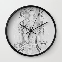 Touch Me Butterfly Wall Clock