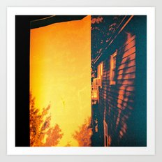 My House My Woods  Art Print