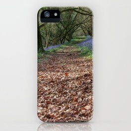 Bluebells and Beech Leaves iPhone Case