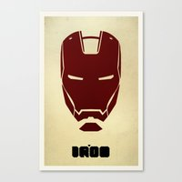 ironman Canvas Prints featuring IRONMAN by agustain