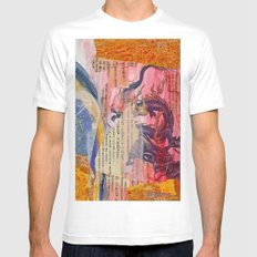 Collage Love - Zhong Long Mens Fitted Tee MEDIUM White
