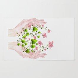 Blooming Hands Rug