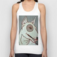 bull terrier Tank Tops featuring Bull Terrier by Just Bailey Designs .com