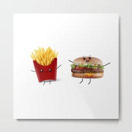 Food Friends Metal Print