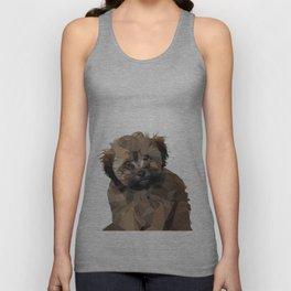 Cocoa, the puppy Unisex Tank Top