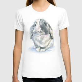 Gray and White Lop Rabbit T-shirt