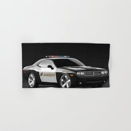 Challenger Sheriff Highway Patrol Police Car Hand & Bath Towel