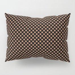 Black and Hazel Polka Dots Pillow Sham