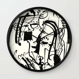 Two Shy Angels Wall Clock