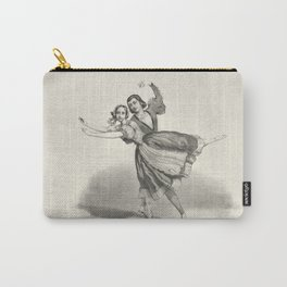 The Dancers, young man and woman, graphite, black white Carry-All Pouch