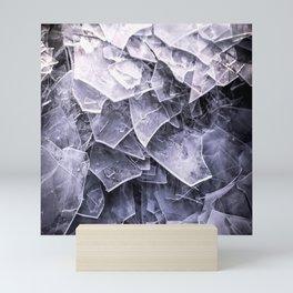 Cracked Ice Tiles In Lake Shore #decor #buyart #society6 Mini Art Print