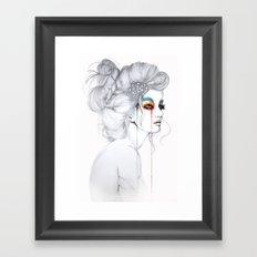 The Girl // Fashion Illustration Framed Art Print