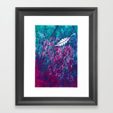 Floating Feather Framed Art Print