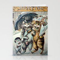 shopping Stationery Cards featuring Shopping by Frankie Cat