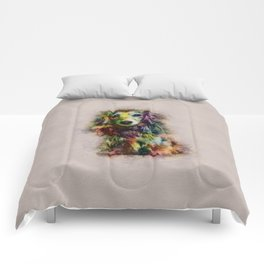 Dachshund Puppy Sketch Paint Comforters